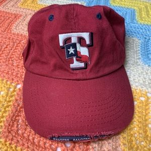 Texas Rangers Distressed Hat w/ Adjustable Strap